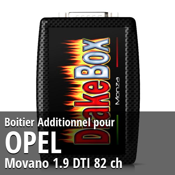 Boitier Additionnel Opel Movano 1.9 DTI 82 ch